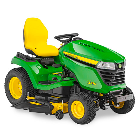 John Deere X590 Ride on Mower - Less Deck