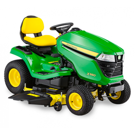 John Deere X380 Side Discharge Ride on Mower (Less Deck)