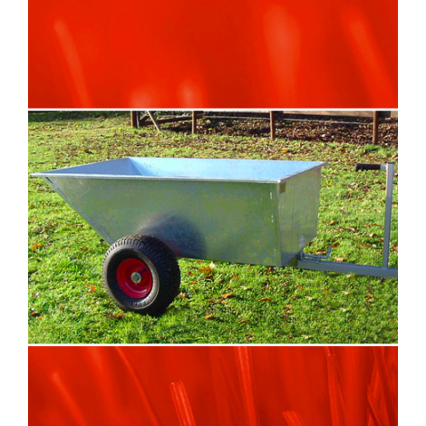 SCH GDTT Galvanised Tipping Dump Trailer
