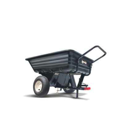 "Agri-Fab Convertible 8"" Push/Tow Poly Tow Trailer 45-0345"