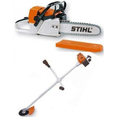 Stihl Battery Operated Childrens Stihl Chainsaw & Brushcutter Combo