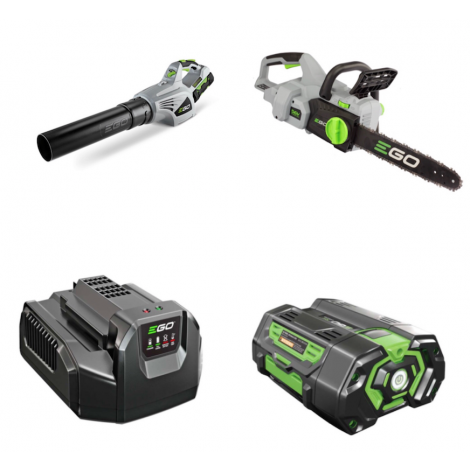 **SPECIAL OFFER**  Ego Cordless LB400E Blower and Ego Cordless CS1400E Chainsaw Package