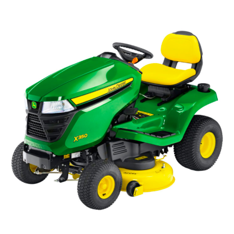 "John Deere X350 Ride on Mower and 42"" Mulch Deck"
